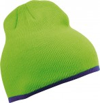 MB7584 BEANIE WITH CONTRASTING BORDER